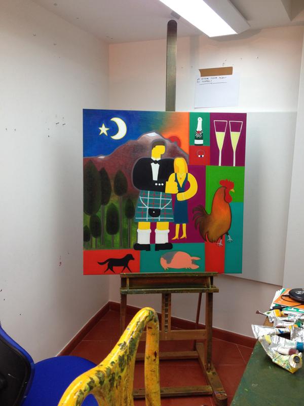 My studio in January 2015