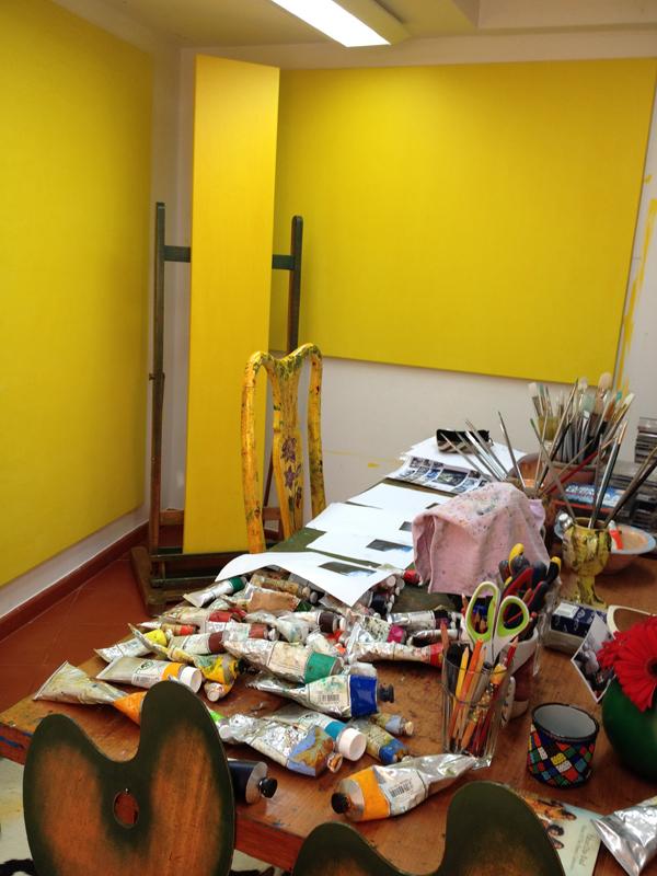 My studio in February 2015