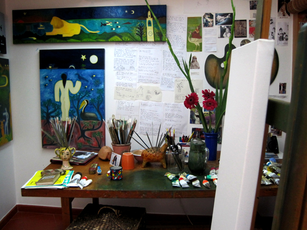 My studio in Summer 2015