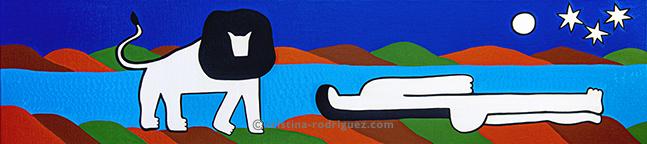 La bohémienne endormie (d'après Henri Rousseau)