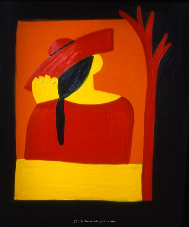 Una mujer con sombrero