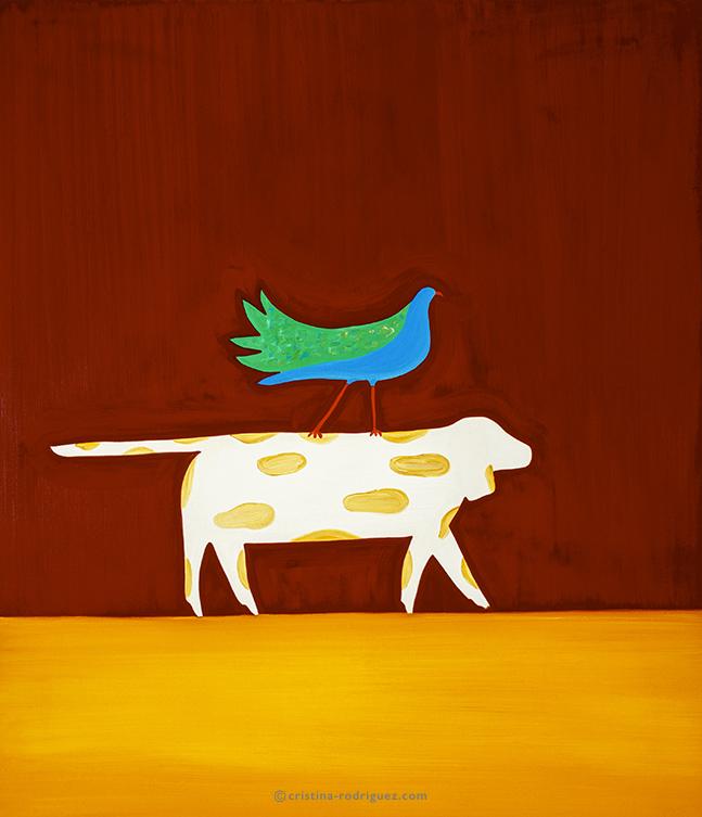 Le chien et l'oiseau