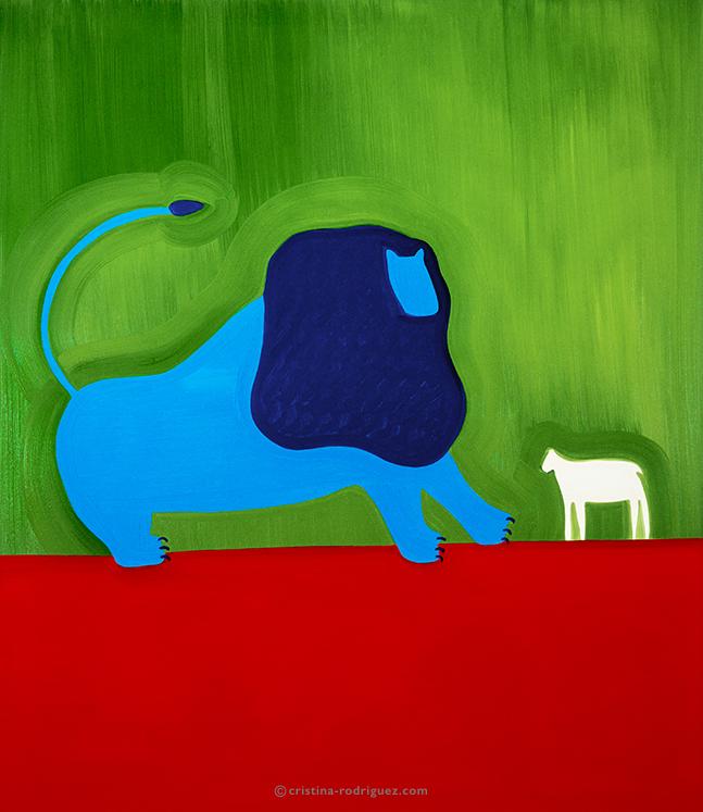 Le lion et l' agneau