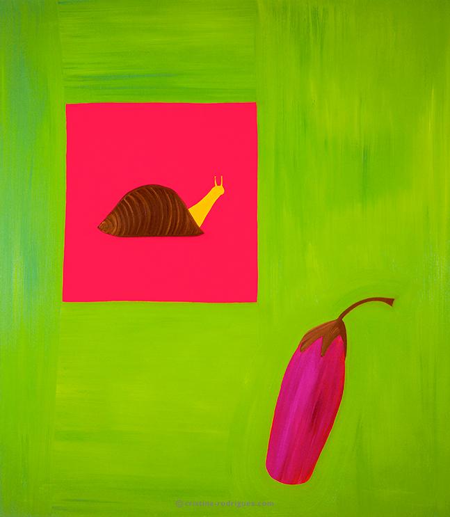 L'escargot à l'aubergine