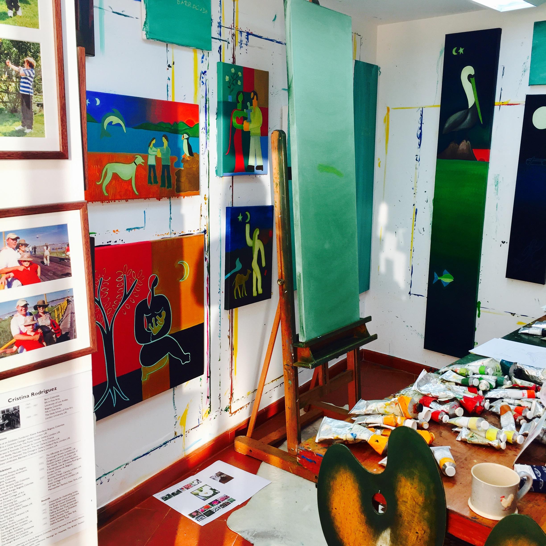 My studio in September, 2016