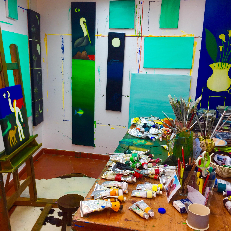 My studio in November, 2016