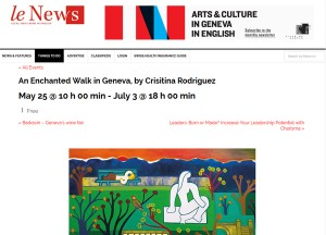 Cristina's new exhibition in Le News (Switzerland)